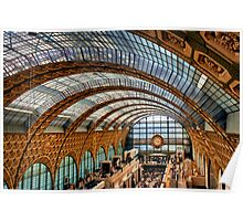 Glass Ceiling of the Musée d'Orsay Poster