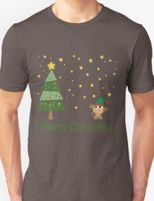 Merry Christmas Monkey Elf Unisex T-Shirt