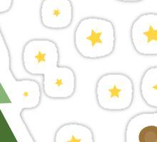 Merry Christmas Monkey Elf Sticker