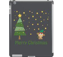 Merry Christmas Monkey Elf iPad Case/Skin