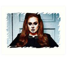 Adele Painting Art - #adele  Art Print