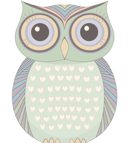 One Cool Owl Sticker