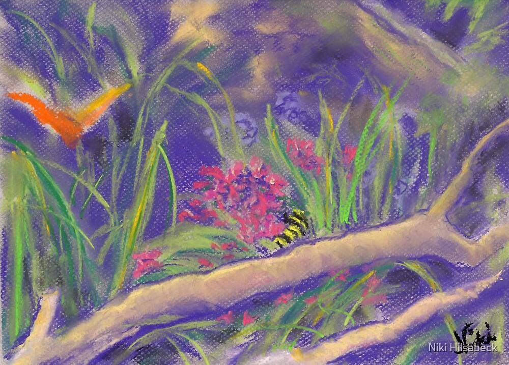 Butterfly Jungle (pastel) by Niki Hilsabeck