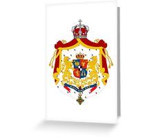 Kingdom of Romania Coat of Arms, 1881-1922 Greeting Card