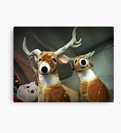 Reindeer Waiting For Christmas Eve Canvas Print