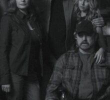 Sam, Bobby, Dean, Cas, Ellen, and Jo picture Sticker