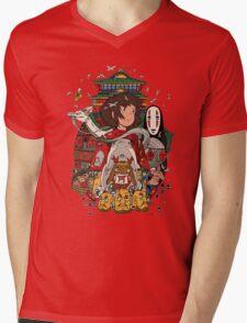 Totoro Ghibli Mens V-Neck T-Shirt
