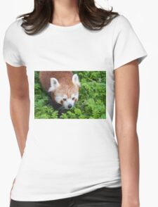 Red Panda close up of face Womens Fitted T-Shirt