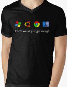 Get Along Mens V-Neck T-Shirt