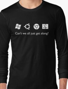 Get Along (B&W) Long Sleeve T-Shirt