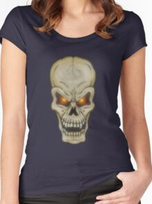 Very Freaky Skull Women's Fitted Scoop T-Shirt