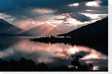 Te Anau Sunset. South Island, New Zealand. (2) by Ralph de Zilva