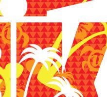 The Uke Hawaii Red Sticker