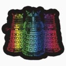 Rainbow Daleks - Sticker by HighDesign
