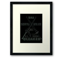 SAO Cleared  Framed Print