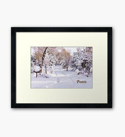 Peaceful Wonderland Framed Print