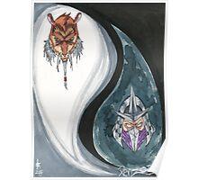 Shredder and Splinter Poster