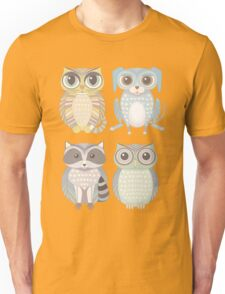 Cat Dog Raccoon Owl Unisex T-Shirt