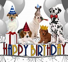 Birthday Dogs - Card by Doreen Erhardt