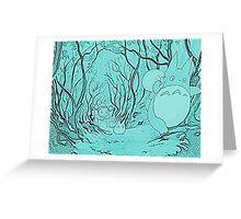 Monochrome Totoro Greeting Card