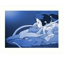 Haku as dragon Art Print