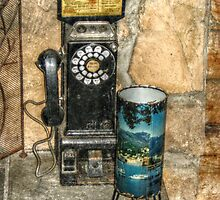 Antique Pay Phone by Jane Neill-Hancock