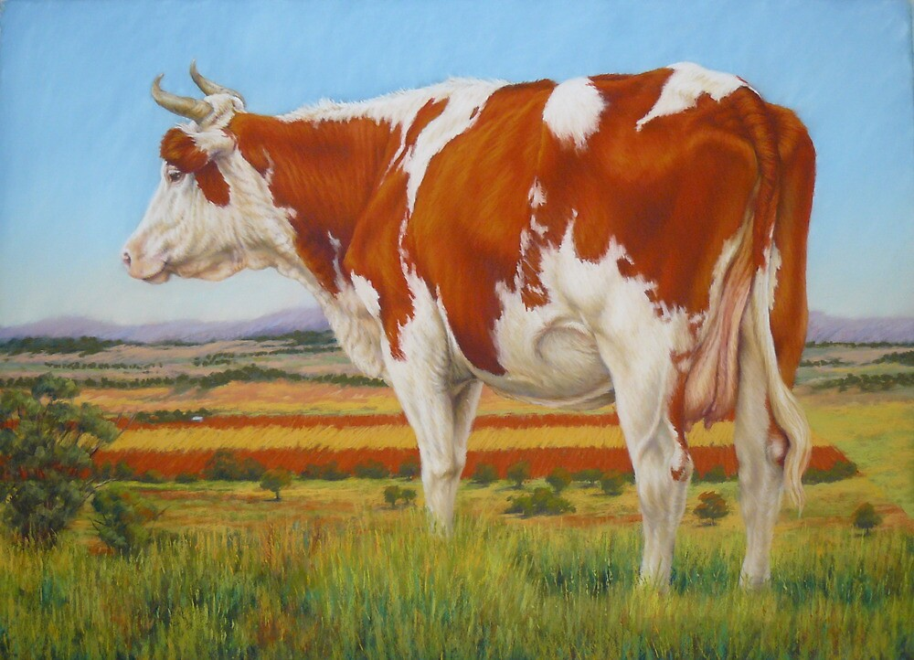 Cow On The Lookout by Margaret Stockdale