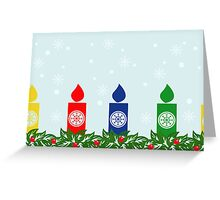 Card with candles Greeting Card