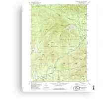 USGS TOPO Map New Hampshire NH Waterville Valley 329847 1980 24000 Canvas Print
