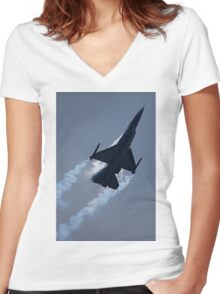 Towards the Heavens Women's Fitted V-Neck T-Shirt