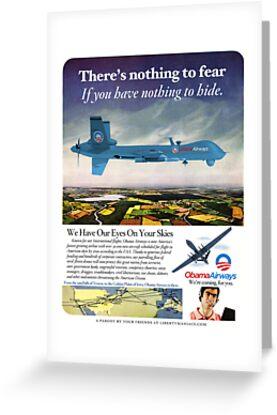 Obama Airways Drone Parody Poster by LibertyManiacs