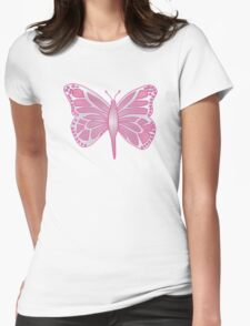 Butterfly Barbie Womens Fitted T-Shirt