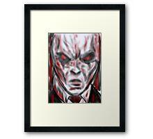 Slender man the face of hell  Framed Print