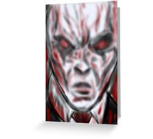 Slender man the face of hell  Greeting Card