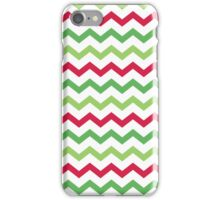 Red Green White Christmas Chevron Pattern iPhone Case/Skin