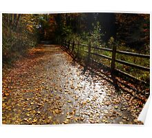 A dusting of muted leaves Poster