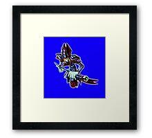 Dark Magician Render (1) - Yugioh! Framed Print