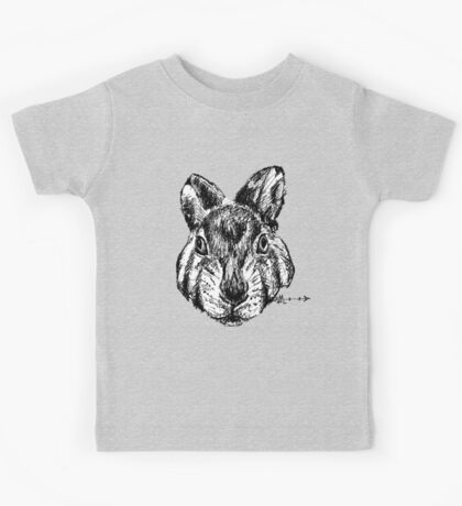 The Rabbit - Ink Drawing Kids Tee