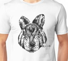The Rabbit - Ink Drawing Unisex T-Shirt