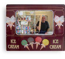 Ice Cream Man Canvas Print