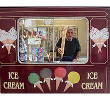 Ice Cream Man Photographic Print