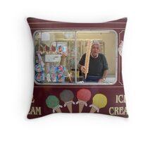 Ice Cream Man Throw Pillow