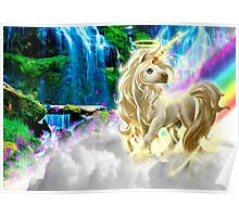 Rainbows and gold Unicorn Poster