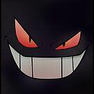 Dark Gengar - Minimal Pokemon Art Poster by Jorden Tually