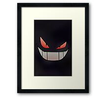 Dark Gengar - Minimal Pokemon Art Poster Framed Print