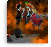 Halloween Picnic Canvas Print