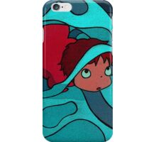 Ponyo - Hiding in a jellyfish! iPhone Case/Skin