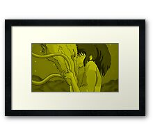 Haku and Chihiro - Spirited Away Framed Print
