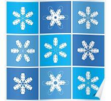 Winter Snowflake Lanterns Poster