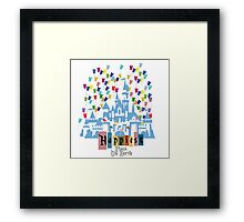 Happiest Place on Earth - Vintage Castle Framed Print